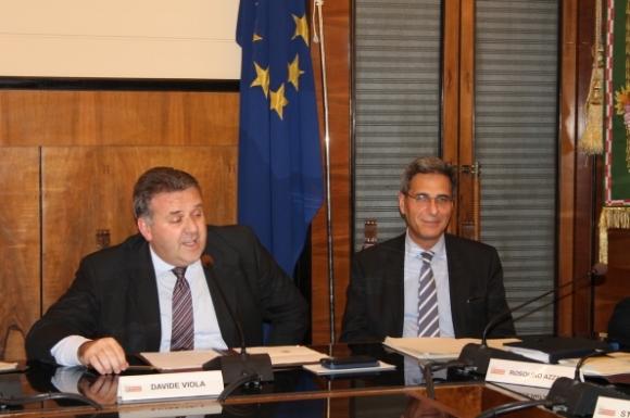 Davide Viola e il dirigente Massimo Placchi