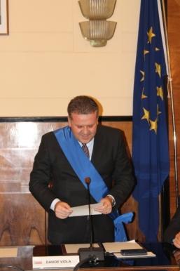 Il presidente della Provincia Davide Viola